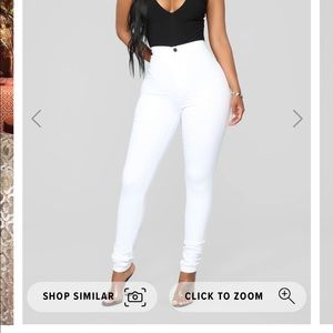 Fashion nova super high waist denim skinnies